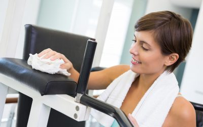 Celulosa para limpiar el sudor en los centros deportivos