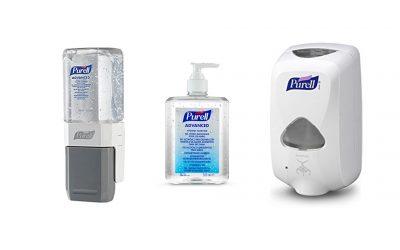 Gel desinfectante Purell, per a una oficina lliure de gèrmens
