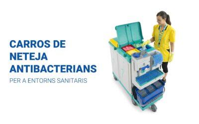 Carros de neteja antibacterians per a hospitals