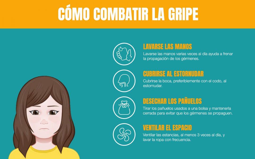 4 recomendaciones para combatir la gripe