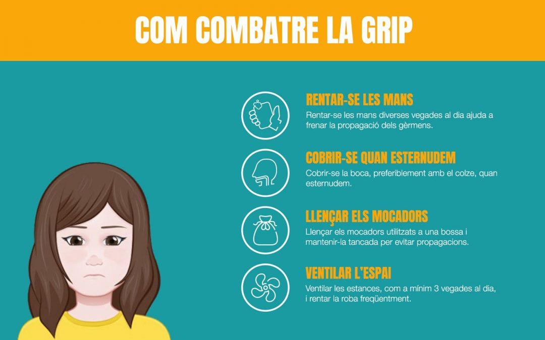 4 recomanacions per combatre la grip