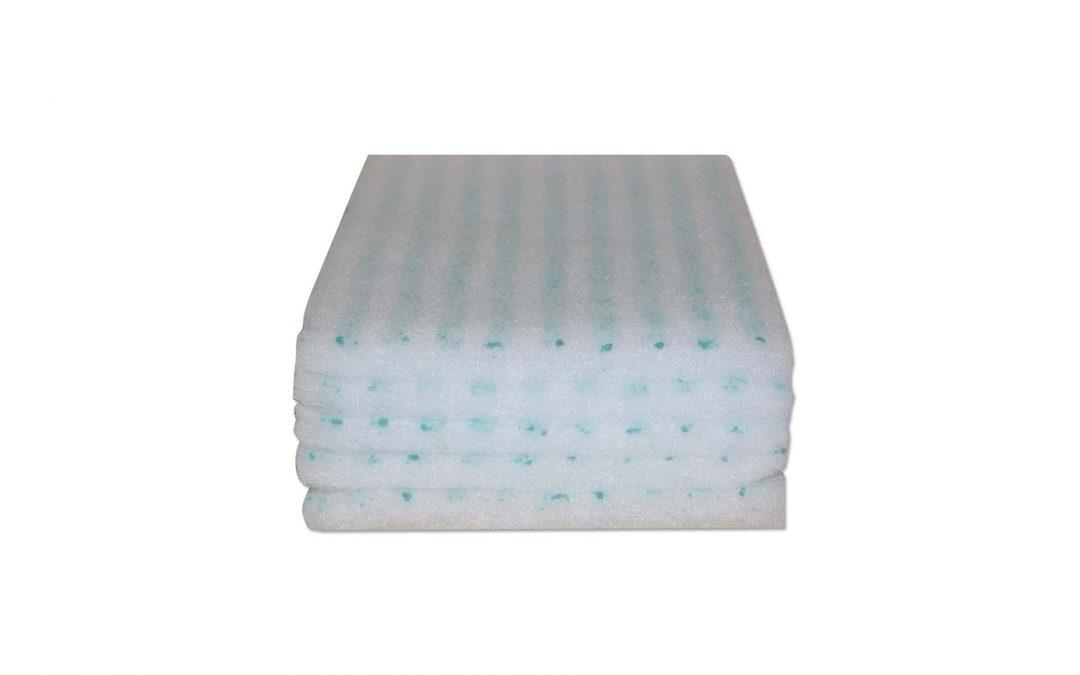 Esponjas jabonosas para la higiene corporal en hospitales