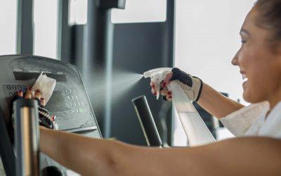 Desinfectantes para máquinas de musculación en gimnasios