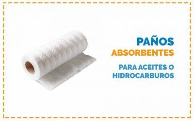 Paños absorbentes para aceites o hidrocarburos