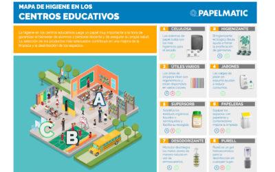Infografía: Mapa de higiene en colegios
