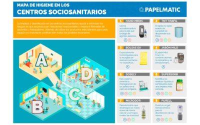 Infografía: Mapa de higiene en centros sociosanitarios