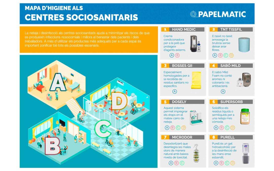 Infografia: Mapa d'higiene als centres sociosanitaris
