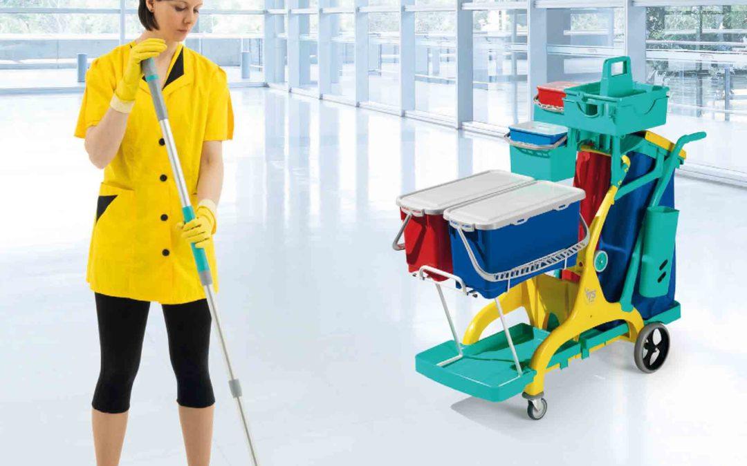 ¿Cuáles son las ventajas de usar carros de limpieza?