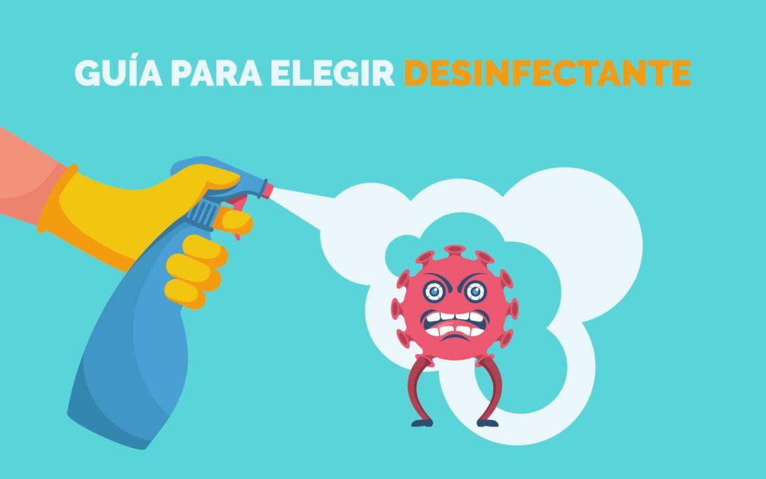 Productos desinfectantes: ¿Qué tipos existen?