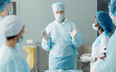 Limpieza y desinfección del área quirúrgica