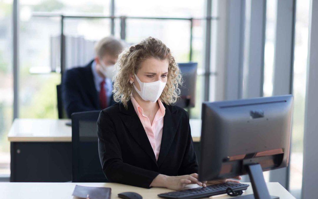 coronavirus trabajo - oficina covid19
