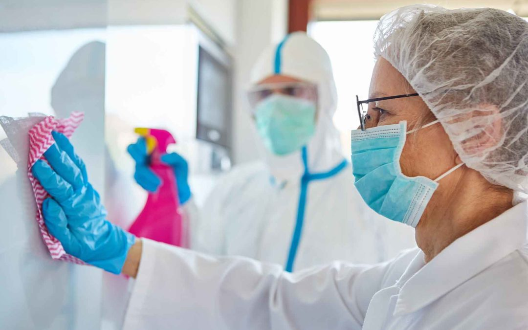 Freqüència de neteja als hospitals contra la Covid-19