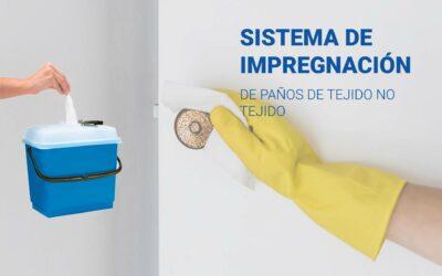 Sistema de impregnación de paños de tejido no tejido