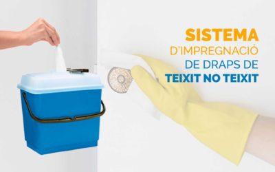 Sistema d'impregnació de draps de teixit no teixit