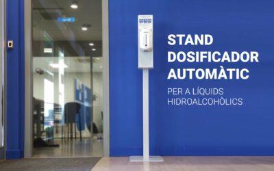 Estand dosificador automàtic per a líquids hidroalcohòlics