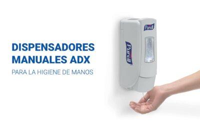 Dispensadores manuales ADX para la higiene de manos